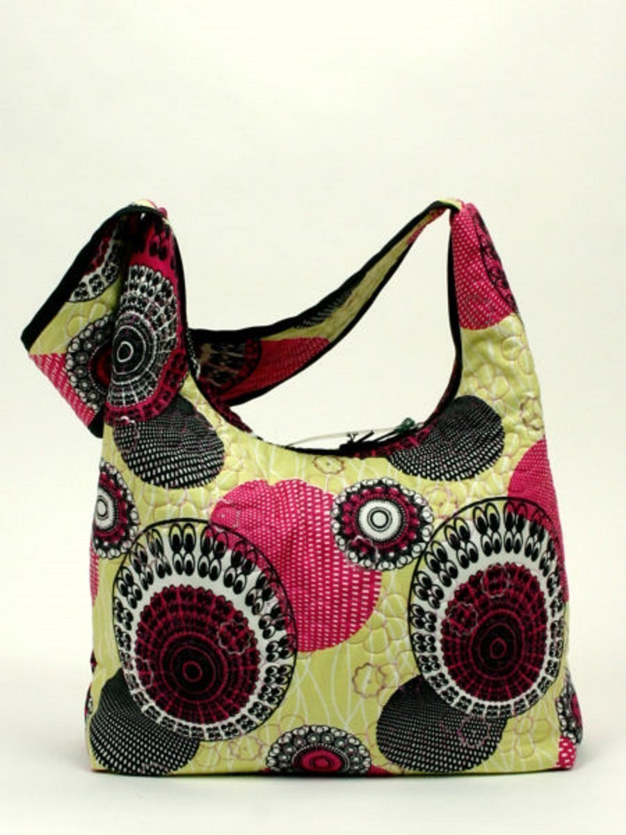 9f1885bc0b59 Amazon.com: Fabric Quilted Shoulder Slouch Handbag: Handmade