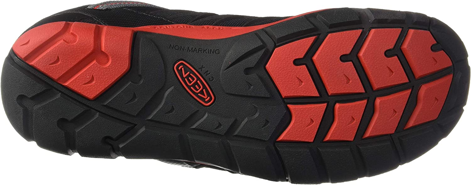 KEEN Unisex-Kids Chandler CNX Casual Shoe Hiking Raven//Fiery Red 13 Medium US