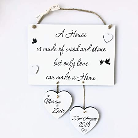 Missyjulia Ltd Home Gift Housewarming Home Personalised Wooden Plaque W322