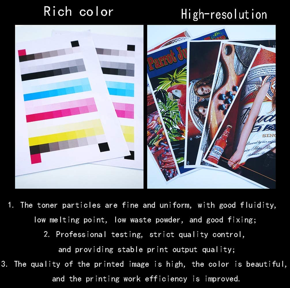for Aurora adc307 367-blue GYBN Color Toner Lead-Free Environmental Protection for Minolta C368 Toner TN324 TN514 Toner Cartridge bizhubC258 C308 C458 C558 C658 Color Print Copier Toner
