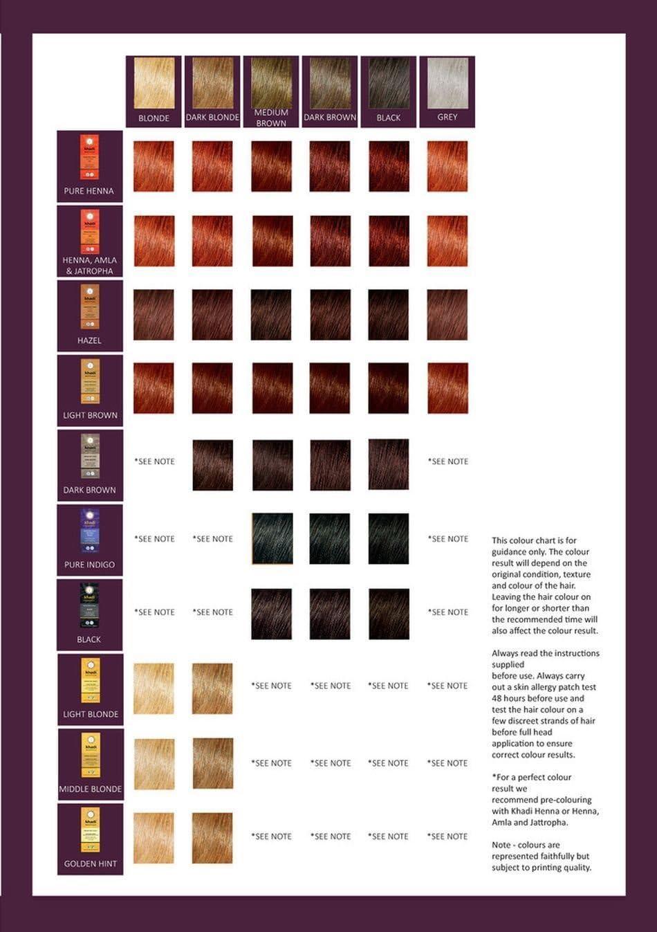 Khadi TP-4260378040152_1118-007 Tinte Herbal Color Castaño Avellana, 100 gr