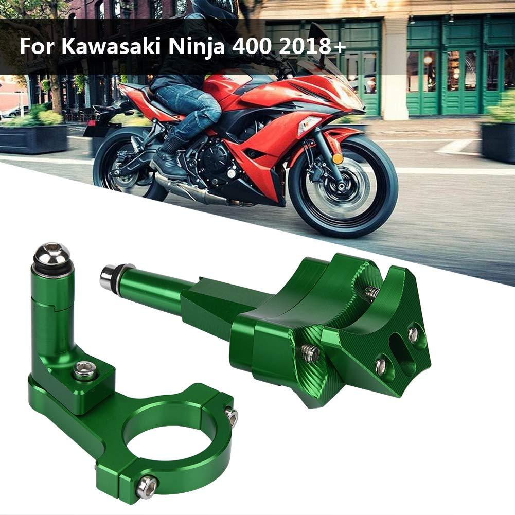 Keenso moto ammortizzatore di sterzo staffa CNC ammortizzatore di sterzo kit di montaggio stabilizzatore staffa per Kawasaki Ninja 400/2018/+