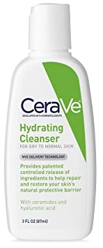 Cera Ve Hydrating Facial Cleanser 3 Oz Travel Size Face Wash, Dry To Normal Skin by Cera Ve