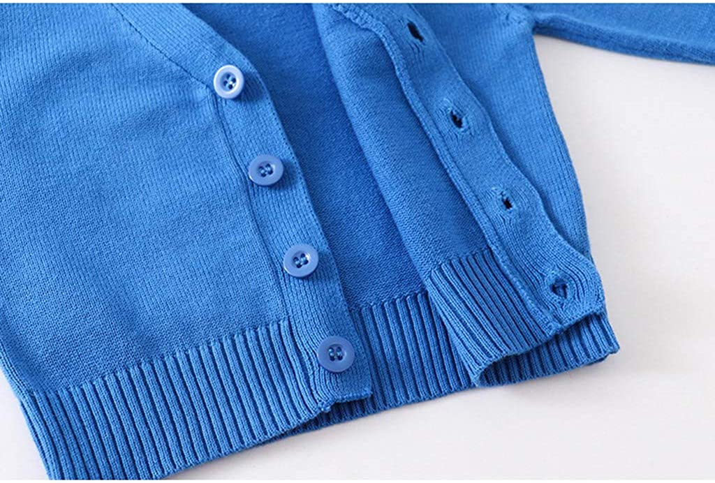 perfectCOCO Toddler Baby Girls Cardigan Sweater Long Sleeve Button Down Knitted Outwear Solid Color Knitwear Tops