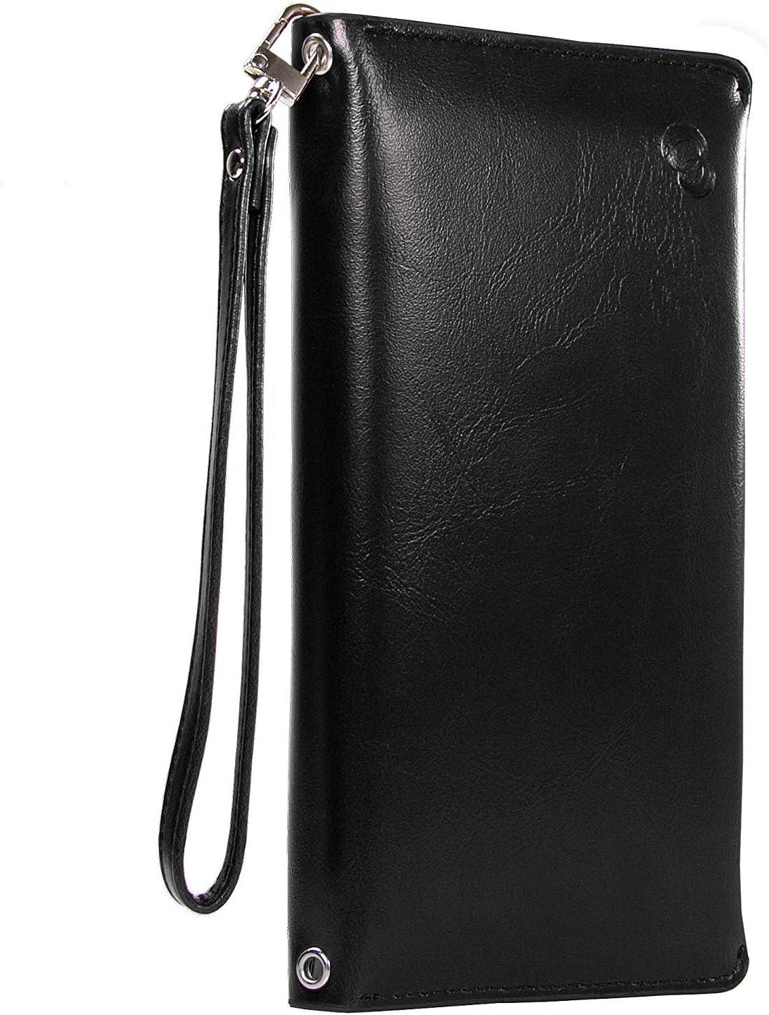 PU Leather Travel Bag Purse Wallet Document Organiser ID Passport Ticket Holder