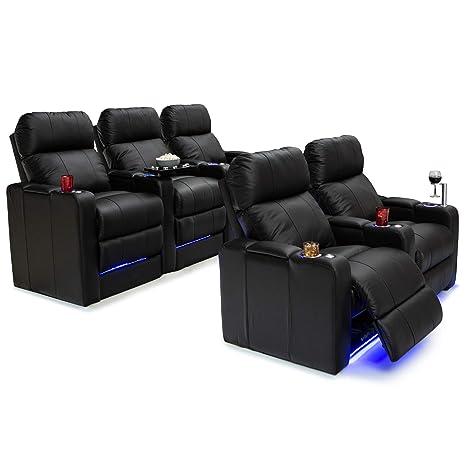 Amazon.com: Silla de cine en casa Monterey con asiento de ...