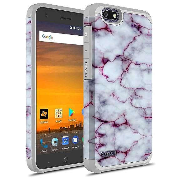 hot sale online c3e83 4384a ZTE Tempo X Case, ZTE Blade Vantage Case, ZTE Avid 4 Case, Rosebono Hybrid  Dual Layer Cover Graphic Fashion Colorful Silicone Skin for ZTE N9137 ...
