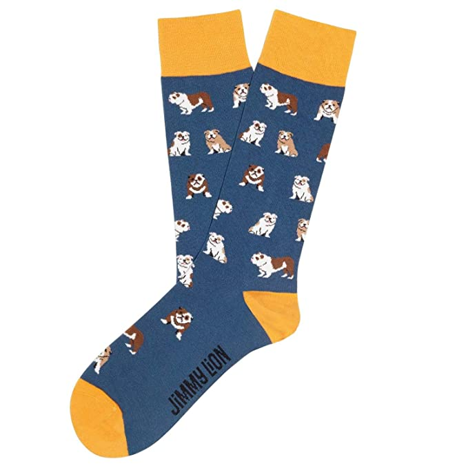 Jimmy Lion Calcetines Bulldogs Azul Talla 36-40: Amazon.es: Ropa y accesorios
