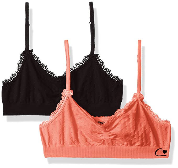 6962f6a31b Amazon.com  Candie s Big Girls  2 Pack Seamless Bralettes  Clothing