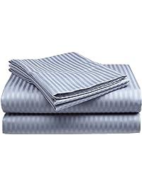 fine deluxe hotel 300 thread count 100 cotton sateen dobby stripe sheet set 4