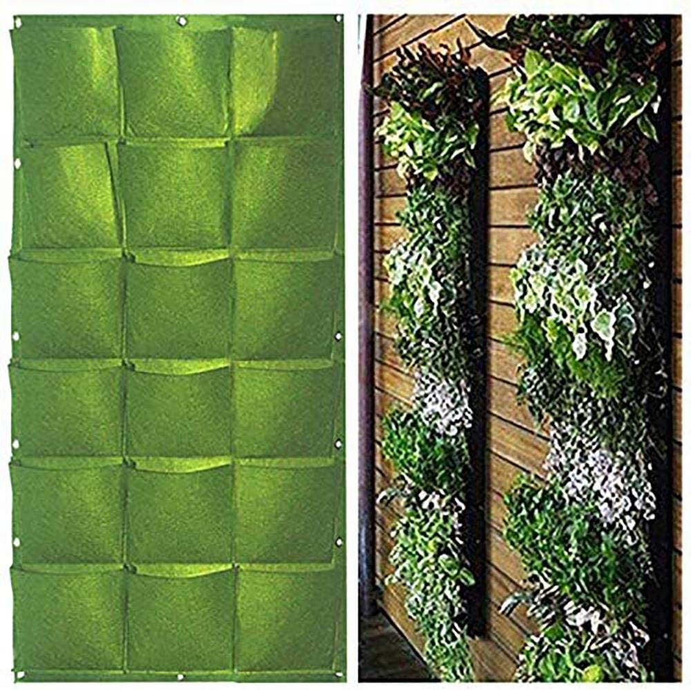 Wall Mount Hanging Planting Bags Home Supplies Multi Pockets Diy Grow Bag Planter Vertical Growing Vegetable Living Garden Bag 36 Pocket L Amazon Co Uk Kitchen Home