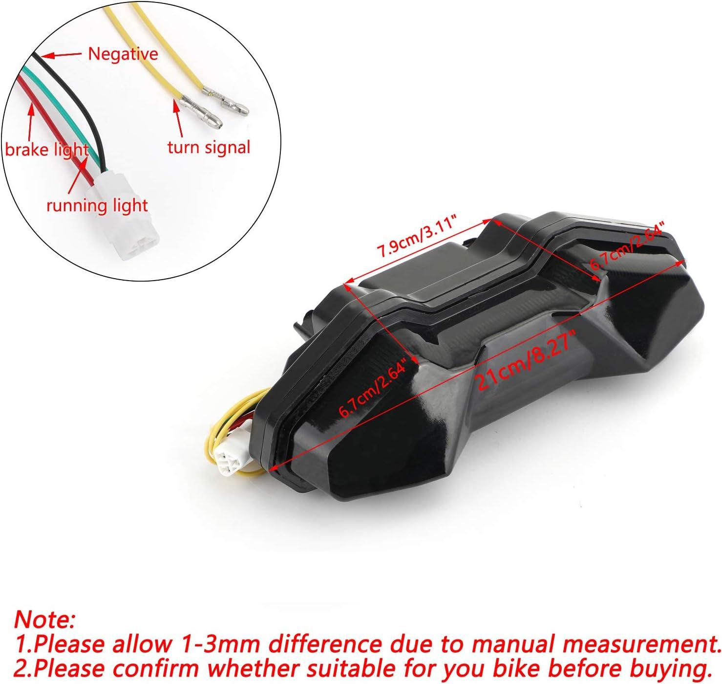 luces traseras de freno para Yamaha FJ09 Tracer 900 2015-2018 indicadores luz de se/ñal intermitentes Artudatech Luz trasera para motocicleta