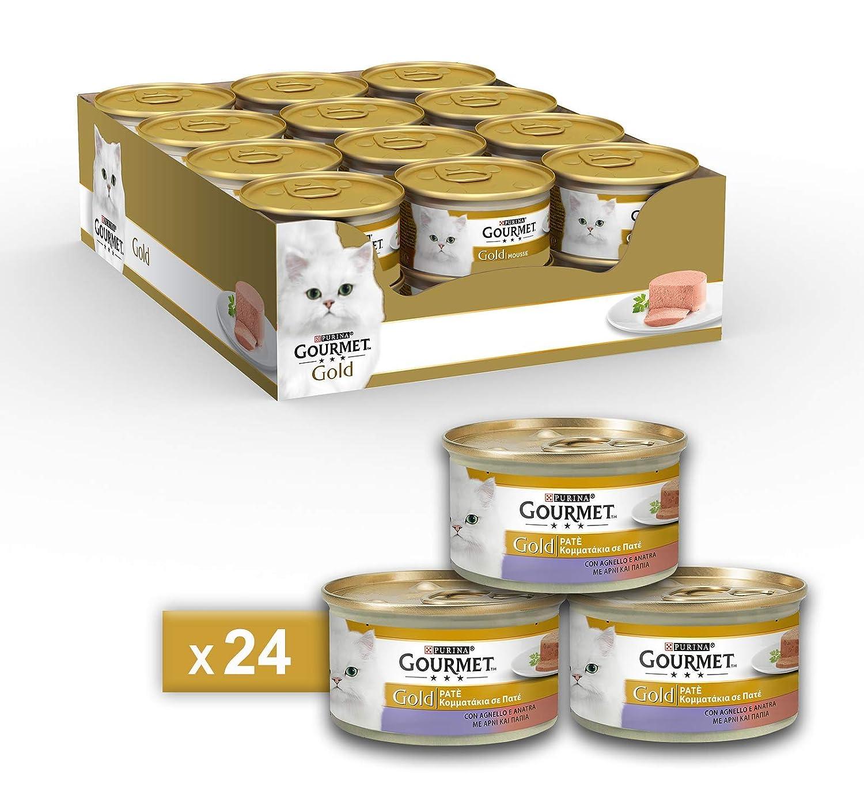 Gourmet Gold Pâté pour Le Chat, avec Agneau et Canard, 85g–Lot DE 24pièces 85g-Lot DE 24pièces Nestle Purina 12254116