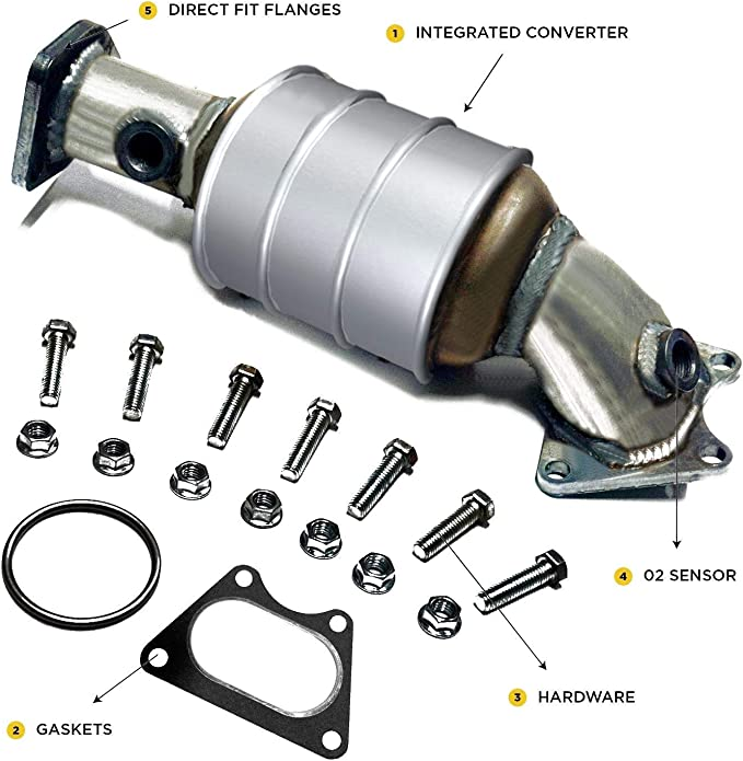 Main Catalytic Converter Direct Fit OBDII with Gaskets Included Xotic Exhaust Odyssey Accord Honda Pilot TL Ridgeline Acura MDX