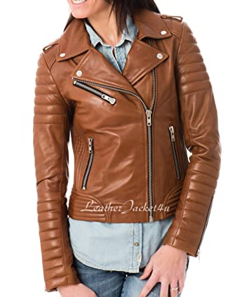 Women S Stylish Genuine Lambskin Leather Jacket 04 At Amazon Women S