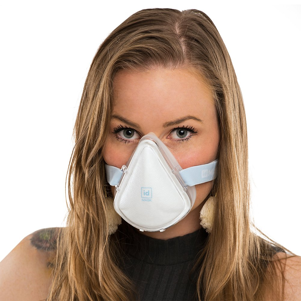 idMASK2 Airtight Anti- Air Pollution Mask Protection for Outdoors / Cycling / Commuting / Running / Particulates / Home Improvement/ Dust Mask / Respirator (Medium)