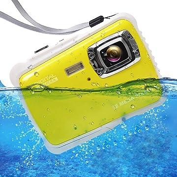 ISHARE Kids Camera, 12MP 1080P Waterproof Digital Camera with 2