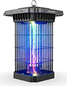CHLANT Electric Bug Zapper Outdoor, 4000V Waterproof Fly Zapper for Patio,Electronic Mosquito Killer Lamp,UV Electric Insect Killer Trap Lamp for Garden Backyard and Home Indoor - 1/2 Acre Coverage