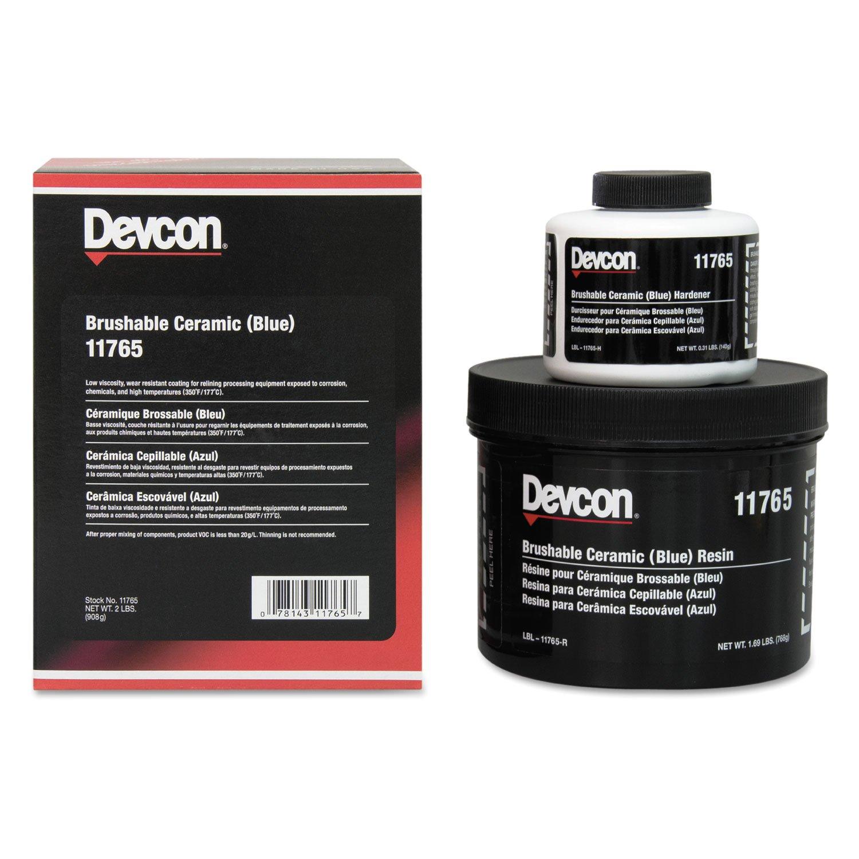 Devcon 11765 Blue Brushable Ceramic Epoxy Compound, 2 lb. Bottle by Devcon