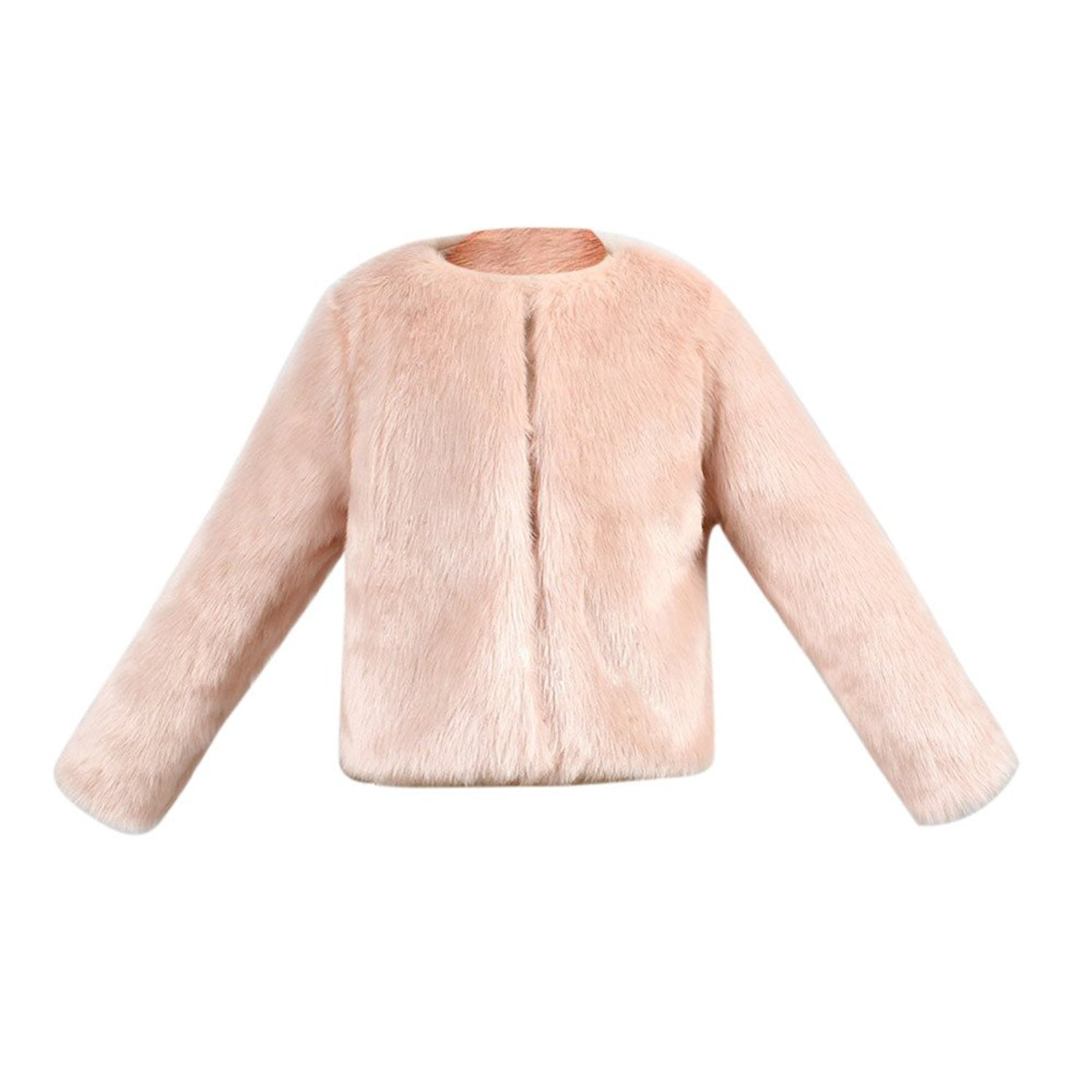 217583036 Mumustar Princess Girls Soft Faux Fur Coat Fashion Pink Thicken Warm Winter  Jacket Outfits For Girls Age 2 3 4 5 6 7 8 9 Years