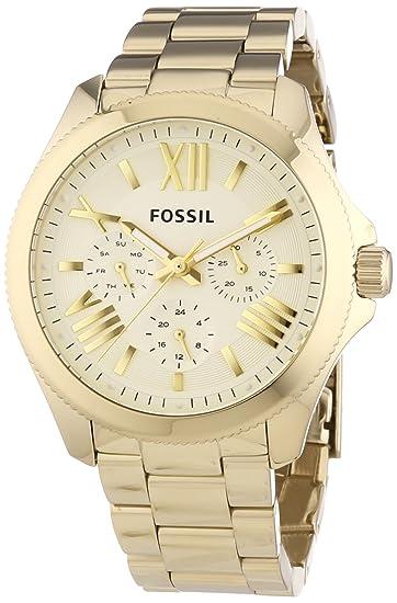 Fossil AM4510 - Reloj de pulsera mujer, revestimiento de acero inoxidable, color dorado: Fossil: Amazon.es: Relojes