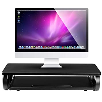 Halter - Soporte para monitor, ordenador portátil, elevador de monitor con bandeja para teclado
