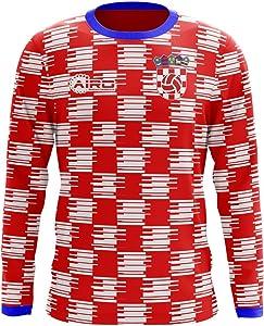 Airosportswear 2020-2021 Croatia Long Sleeve Home Concept Football Soccer T-Shirt Jersey