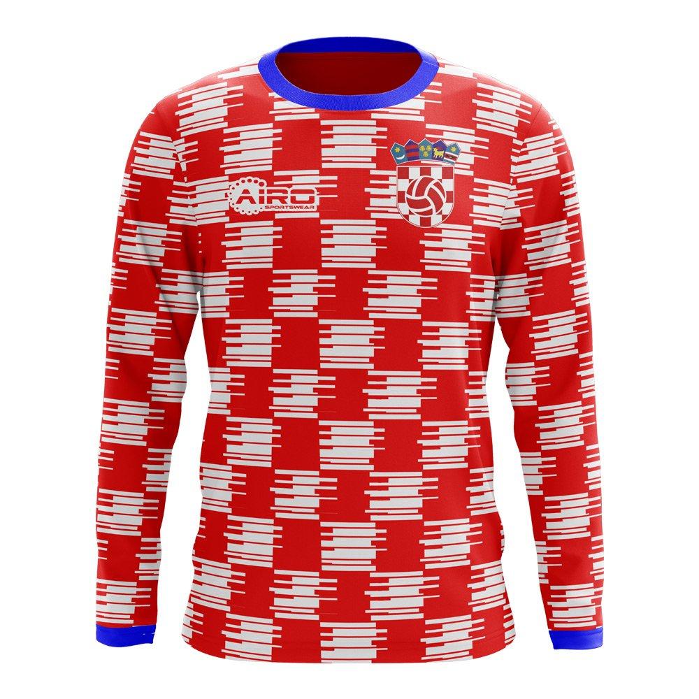 Airo Sportswear 2018-2019 Croatia Long Sleeve Home Concept Football Soccer T-Shirt Trikot