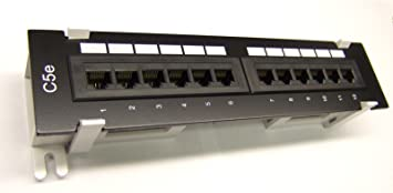 CAT6 12 Port RJ45 110 Network Mini Patch Panel with Rack Wall Mount Bracket