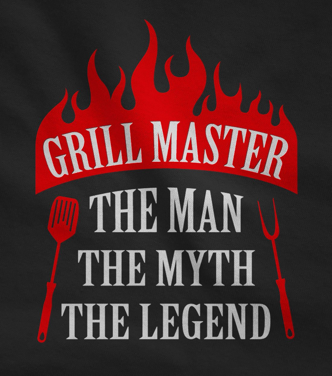 Grill Master The Man The Myth The Legend Griller Gift Idea Funny BBQ Chef Apron One Size Black by TeeStars (Image #3)