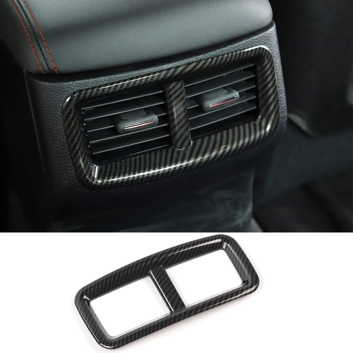 Voodonala for Challenger Center Console Air Condition Outlet Vent Trim Accessories for Dodge Challenger 2015 up Silver, 4ps
