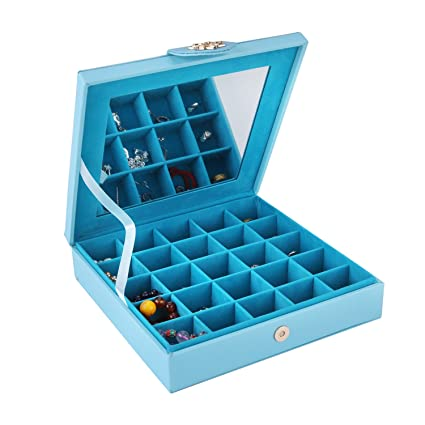 Amazoncom Smonet PU Leather Jewelry Box Storage Case Holder