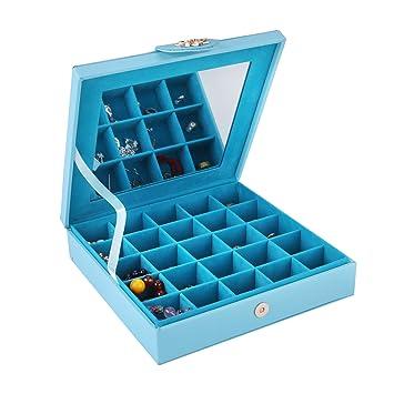 Amazoncom Smonet PU Leather Jewelry Box Storage Case Holder