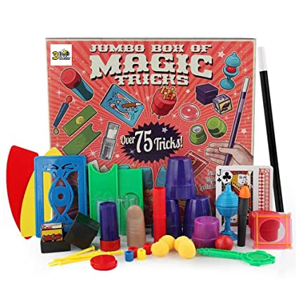 40f4218c2 Amazon.com: 3 Bees & Me Deluxe Magic Kit Set with Toy Wand & 75 Magic Tricks  for Beginners - Best Age 6 7 8 9 10: Toys & Games