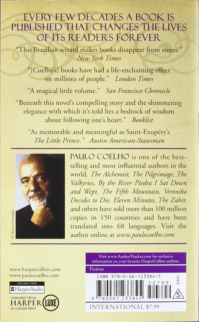alchemist a fable about following your dream amazon co uk paulo  alchemist a fable about following your dream amazon co uk paulo coelho 9780061122415 books