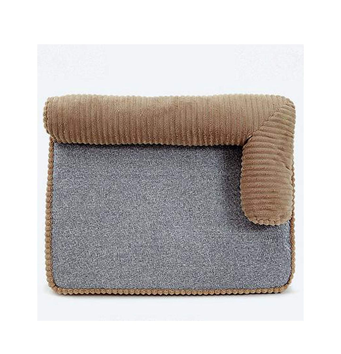 MATERIALAL Beds Mat for Small/Medium/Large Dogs Bed for Cats Washable Sofa Pet Dog Kennel Bed Mat Four Seasons, 95X70X10Cm