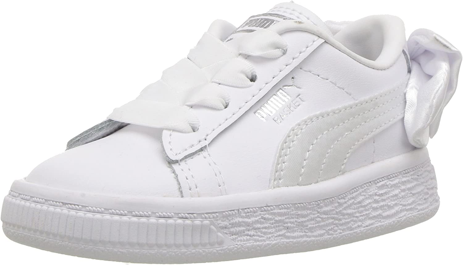 PUMA Kids Basket Bow Slip On Sneaker