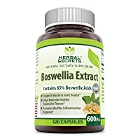 Herbal Secrets Boswellia Serrata Extract (65% Boswellic Acids) 600 mg 120 Capsules...
