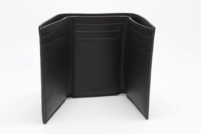 Coach Men F23845 Trifold Wallet Black