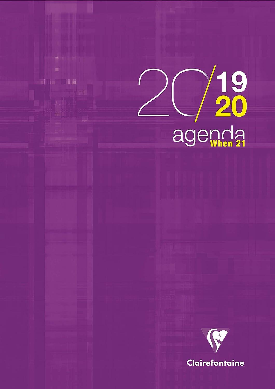 1 Agenda scolaire'When 21' - 21x29,7-2019/2020 - Violet - 21 x 29,7 cm