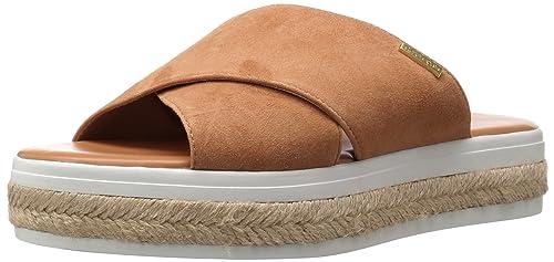 73bb5de4 Calvin Klein Jupare Sandalia de Plataforma para Mujer, Bronceado Almendra,  10