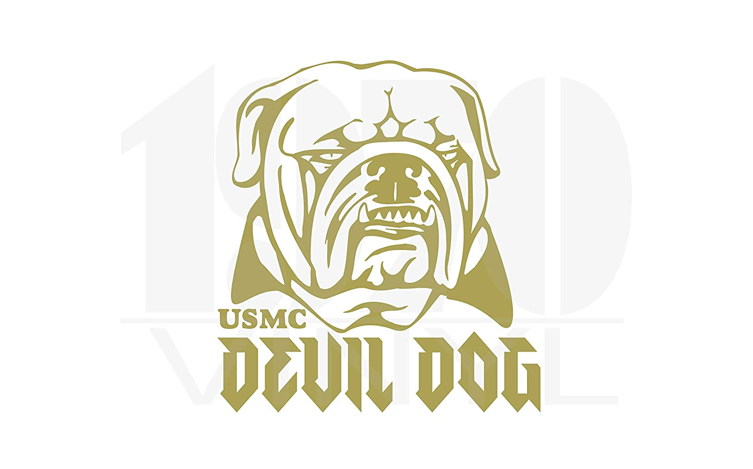 Semper Fi USMC Devil Dog Vinyl Decal United States Marine Corps Officially Licensed USMC Hobbyist #19350