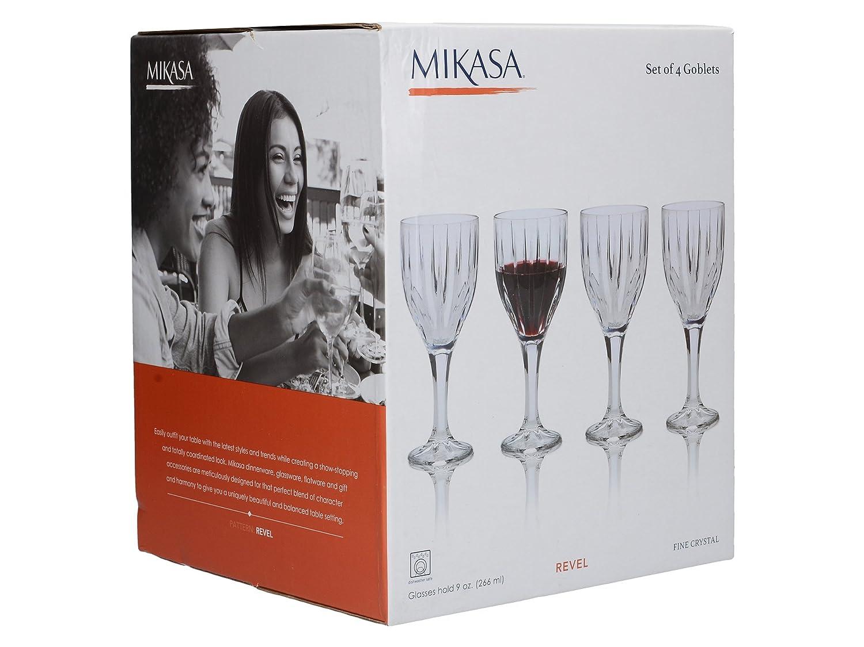 Mikasa Revel Goblet Set of 4 9-Ounce