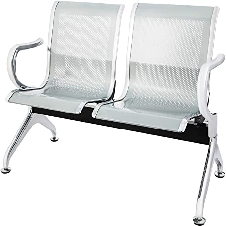 Super Amazon Com Vevor Waiting Room Chairs 2 Seat Stainless Unemploymentrelief Wooden Chair Designs For Living Room Unemploymentrelieforg