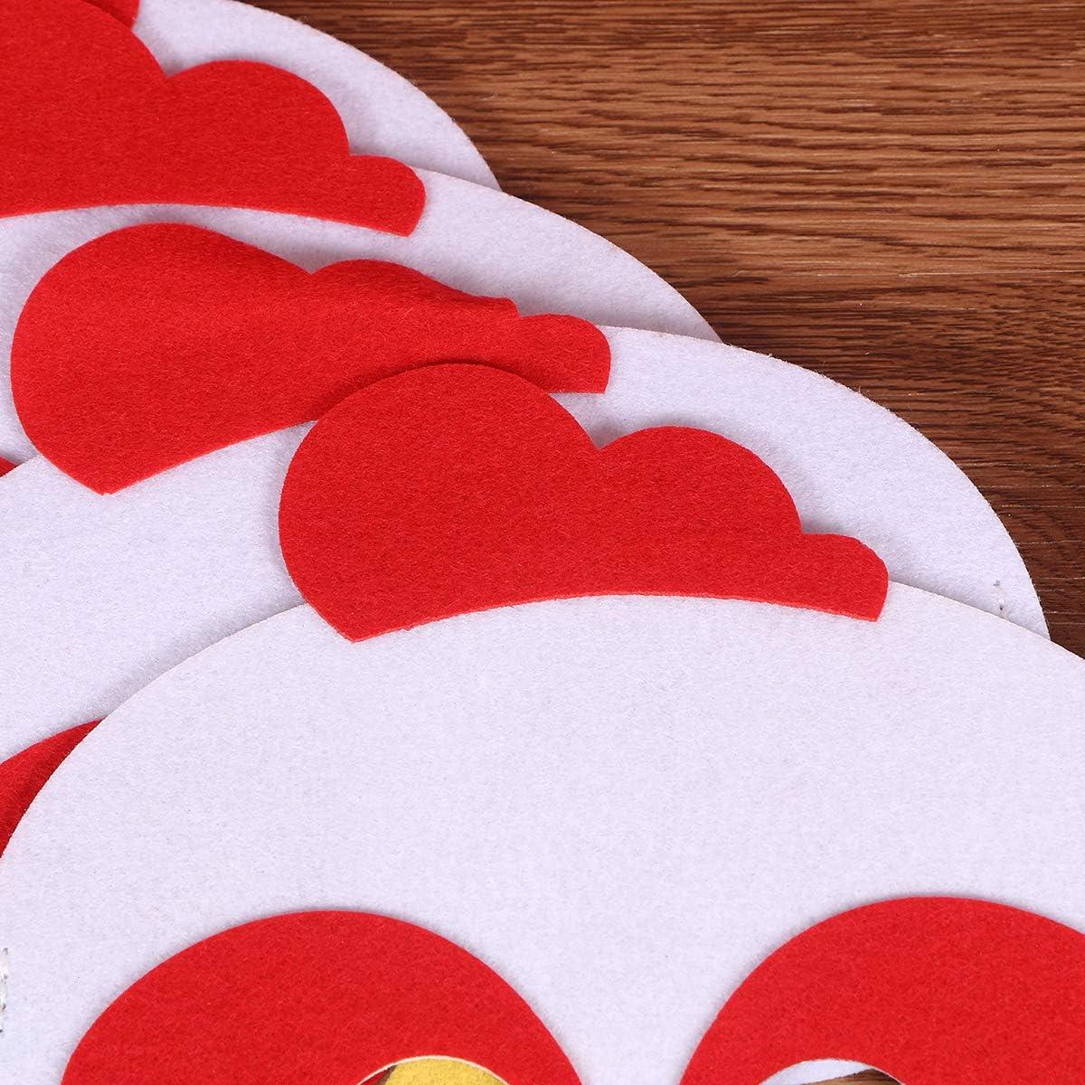 TENDYCOCO 4pcs Non-tiss/és Tissus Masques Fantaisie Accessoires d/écoratifs de Performance pour Enfants Parents-Enfant Campagne Bande dessin/ée Accessoires de Poule