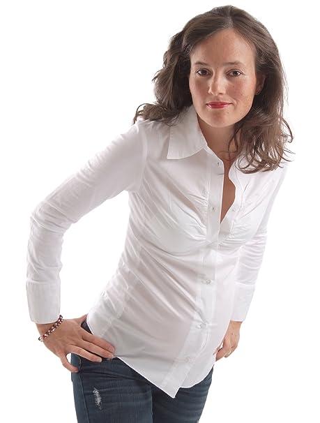 Noppies Blusa Odessa 80805 Mujer Blusas Moda Premamá - algodón, 01 - Blanco, 4