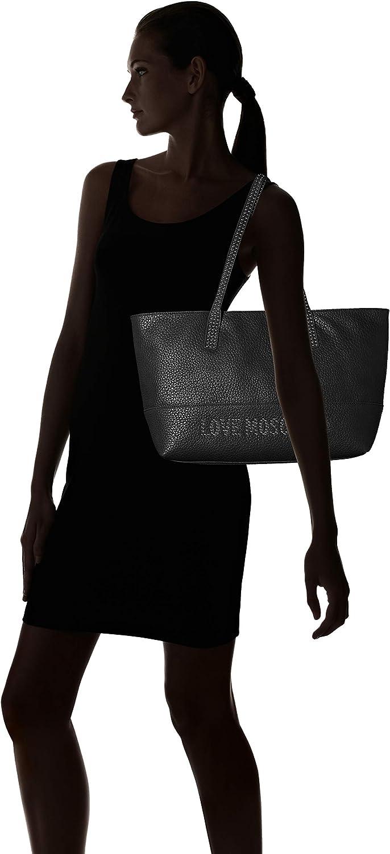 Love Moschino - Borsa Grain Pu, Borse Tote Donna Nero (Nero Galv.nickel)