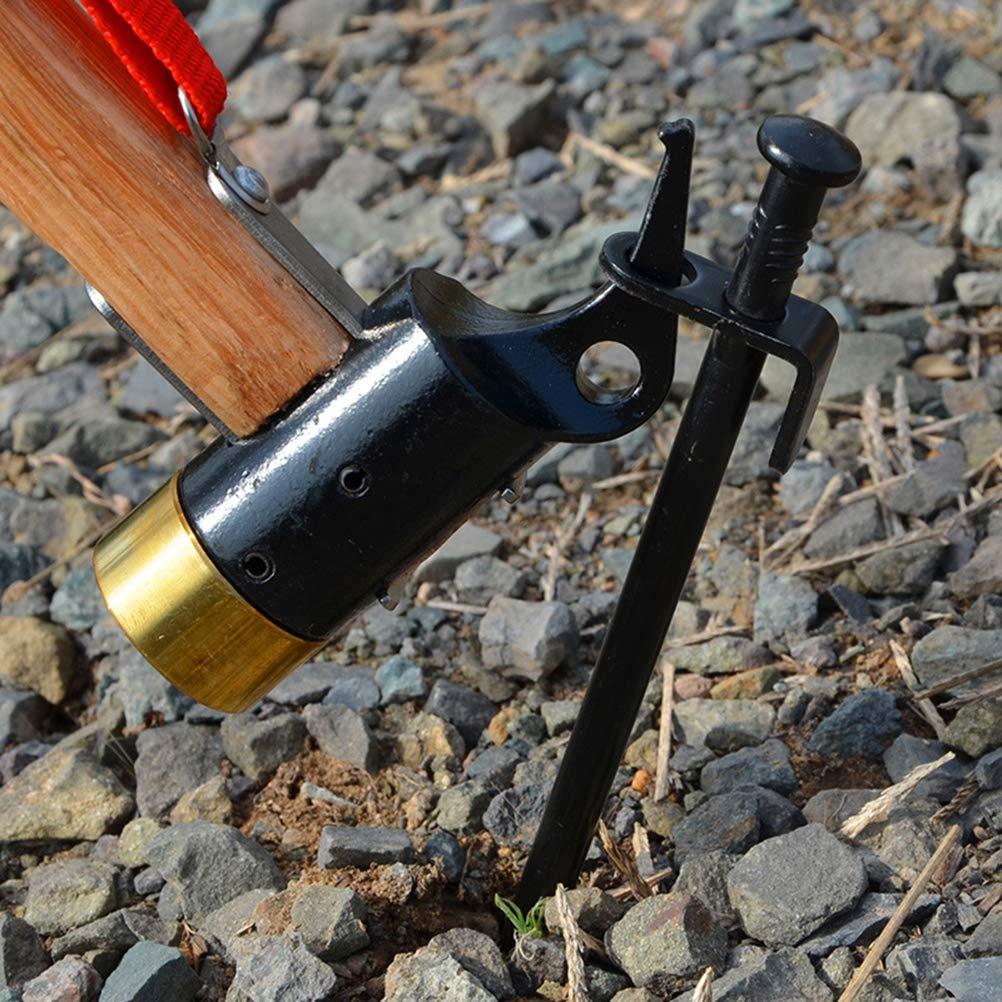 Noir LIOOBO 2 pcs Pinces de Camping 20cm piquets de Camping en Fer piquets de Sable pour Camping randonn/ée Accessoires de Tente de Jardinage