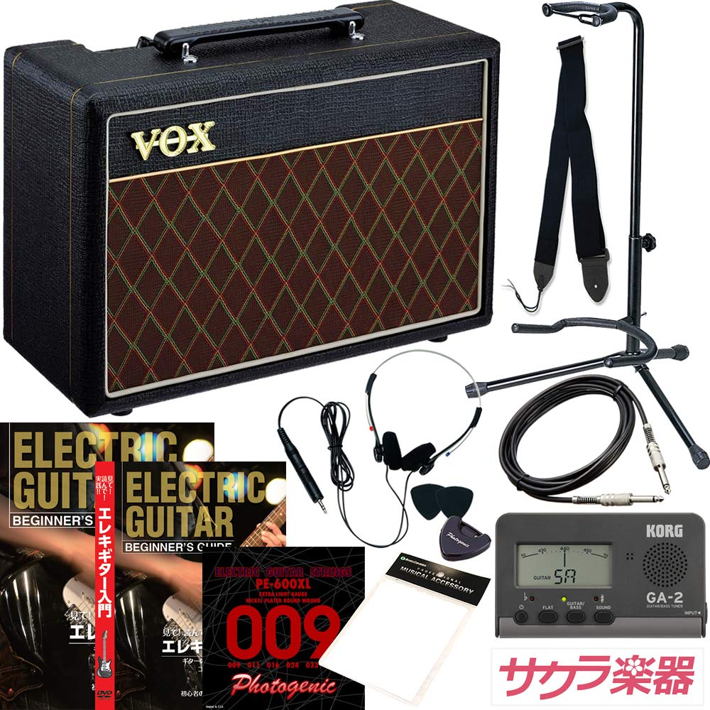 エレキギター初心者入門 サクラ楽器オリジナル 小物詰め合わせ スターターパック【アンプ:VOX PATHFINDER 10】  アンプ:Pathfinder 10 B004OH8U6G