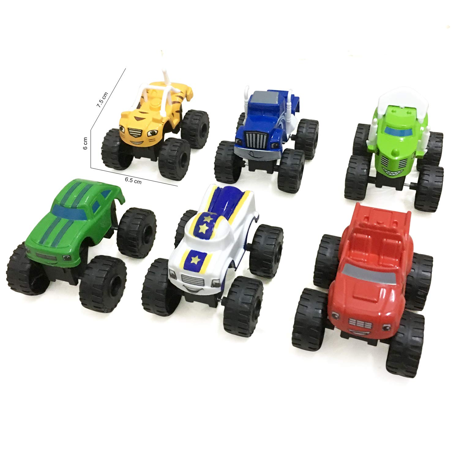 Kandall Blaze and The Monster Machines Toy Cars - 6 Piece Sets